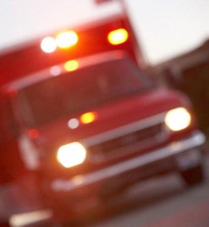 Dog hitches onto ambulance transporting owner to hospital