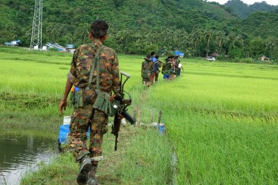 Rohingya raids on Myanmar forces leave dozens dead
