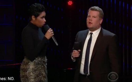 Jennifer Hudson joins James Corden to sing public domain songs