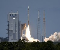 Missile detection satellite launches from Florida