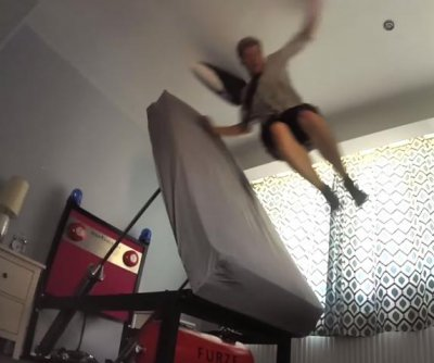 British inventor's 'Ejector Bed' throws occupants