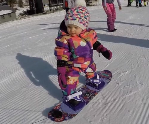 Idaho baby goes snowboarding before first birthday