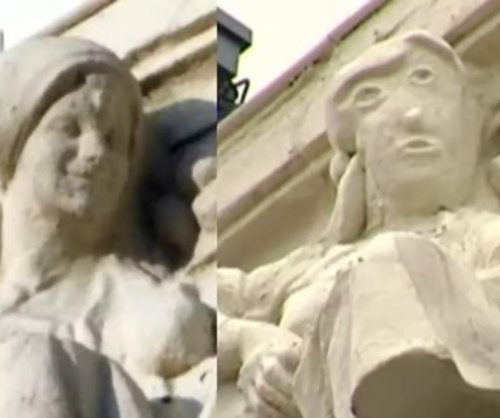 Botched carving restoration on Spanish building ridiculed online