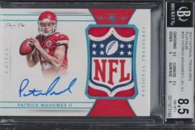 Patrick Mahomes rookie card sells for record-breaking $4.3 million