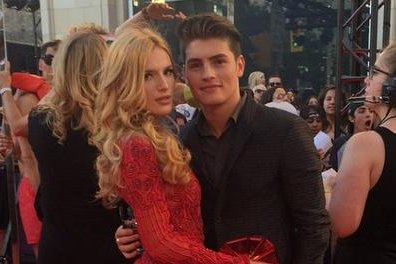 Bella Thorne, Gregg Sulkin cozy up at Much Music Video Awards