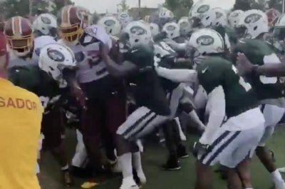 New York Jets, Washington Redskins erupt into practice brawl