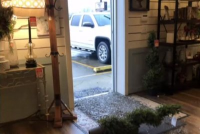 Two deer crash through furniture store in Kentucky