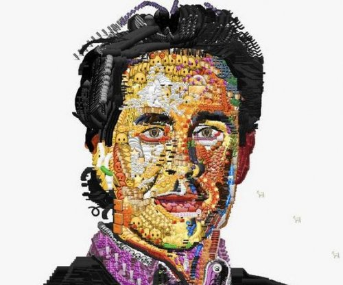Rapper does detailed portraits of celebrities using emojis