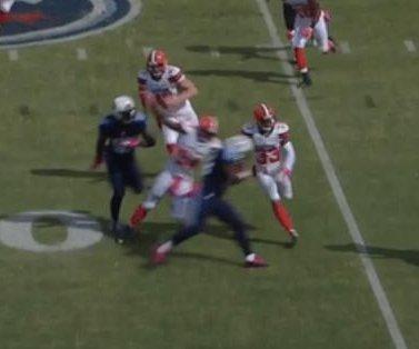 Watch: Cleveland Browns S Jordan Poyer hit by illegal blindside block, taken to hospital