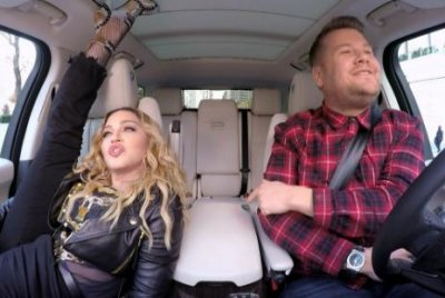 Madonna sings classic songs, talks kissing Michael Jackson on Carpool Karaoke