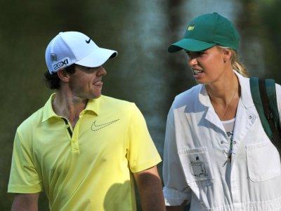 Caroline Wozniacki happy with performance, beau Rory McIlroy