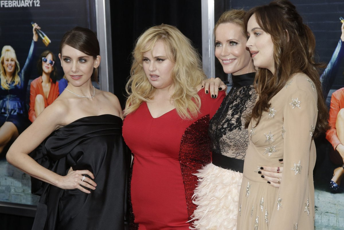Rebel Wilson, Dakota Johnson Attend 'how To Be Single' Premiere Judd Apatow  News