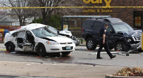Death most likely in smaller, lighter vehicle in a two-vehicle crash