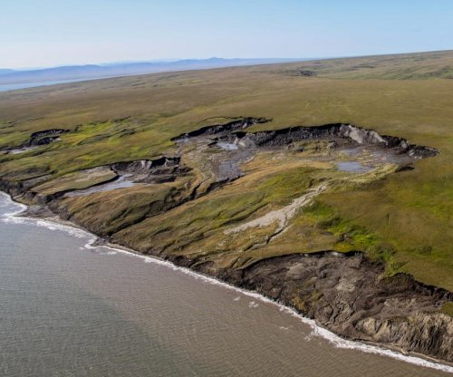 Scientists consider the effects of coastal erosion in the Arctic
