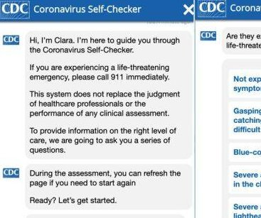 CDC launches online COVID-19 symptom checker