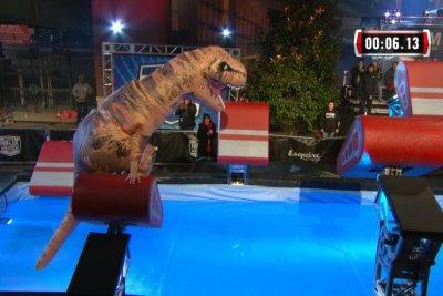 'Jurassic parkour:' Tyrannosaurus Rex takes on 'American Ninja Warrior' course