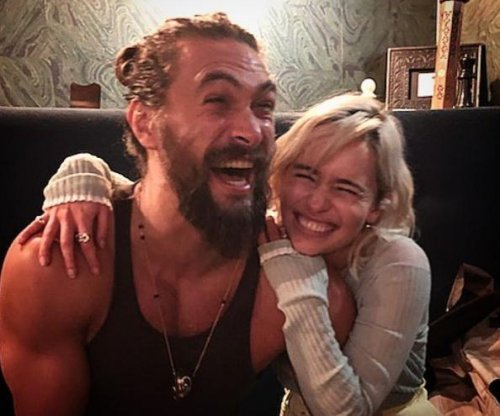 Emilia Clarke reunites with 'sun and stars' Jason Momoa
