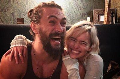 Emilia Clarke reunites with 'sun and stars' Jason Momoa