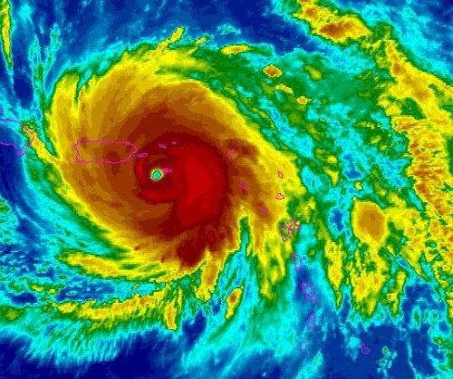 Eye of Hurricane Maria expected to hit Puerto Rico Wednesday morning