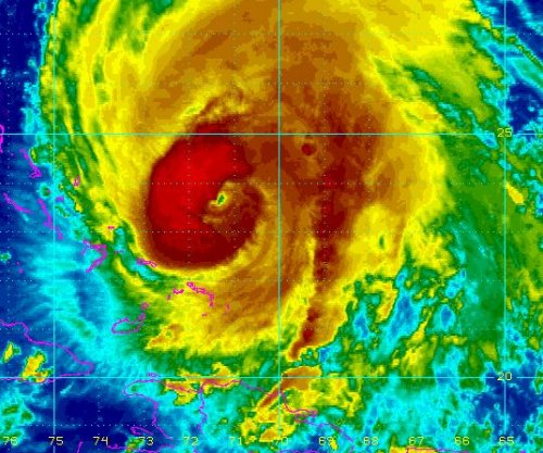 Hurricane Maria moving away from Bahamas
