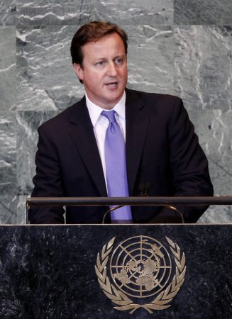 British PM supports Palestine bid for statehood