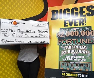 Maryland woman wins $2 million after $100,000 jackpot