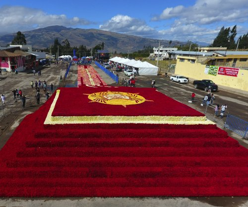 Rose pyramid breaks Guinness World Record in Ecuador