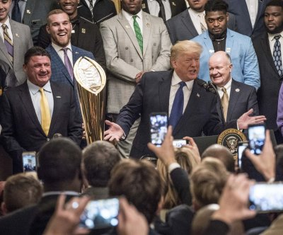 Trump hosts college football champion LSU Tigers at White House