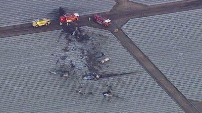 Military pilot killed in California crash