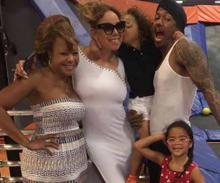 Nick Cannon, Mariah Carey reunite on Father's Day