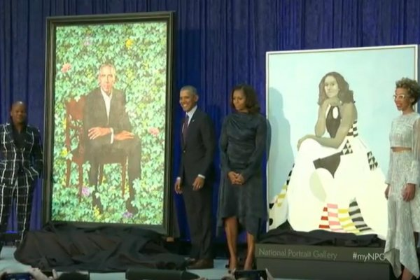 Portraits Of Barack Michelle Obama Revealed At National