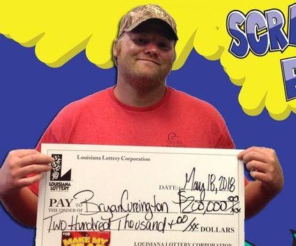 Louisiana man rescues $200,000 lottery ticket from the trash