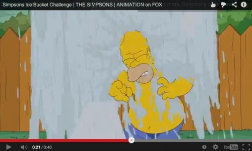 Watch Homer Simpson complete the ALS Ice Bucket Challenge