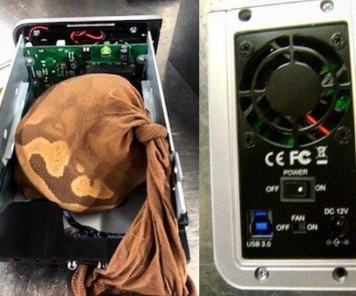 TSA agents find snake inside external hard drive