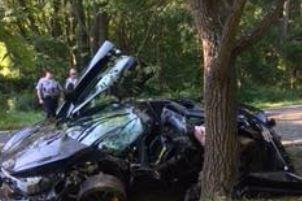 Virginia man totals $300K car one day after buying it