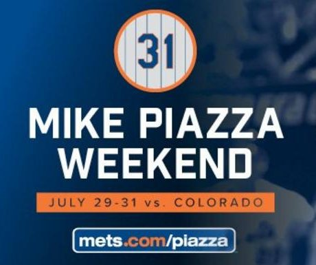 New York Mets to retire Mike Piazza's No. 31
