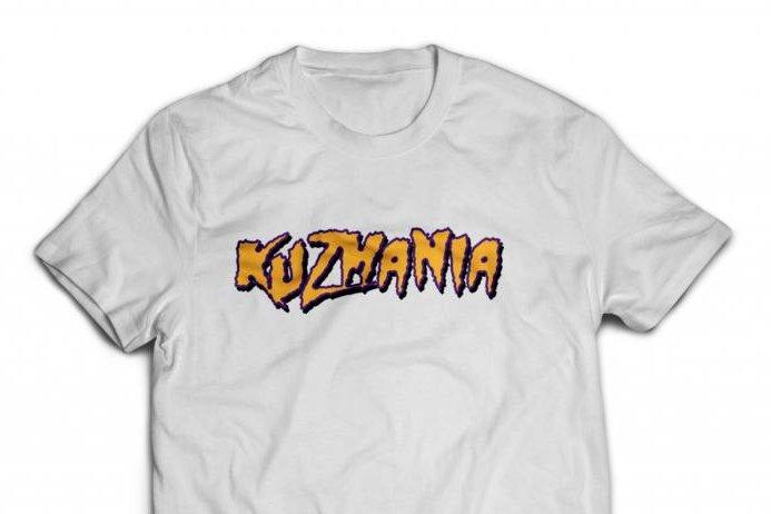 size 40 528d2 b7eeb Lakers' Kuzma selling 'Kuzmania' shirts after dissing Ball's ...