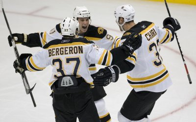 Bruins forward Patrice Bergeron hurt again