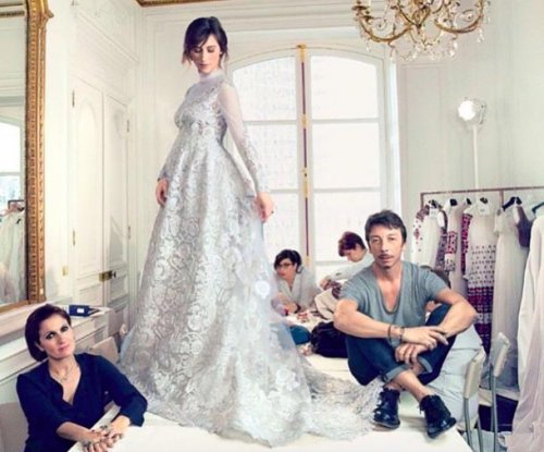 Sophie Hunter's wedding gown is revealed be Valentino