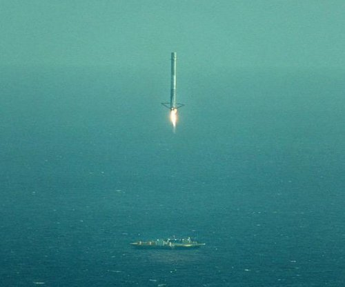 Video shows SpaceX rocket booster crash land on floating target