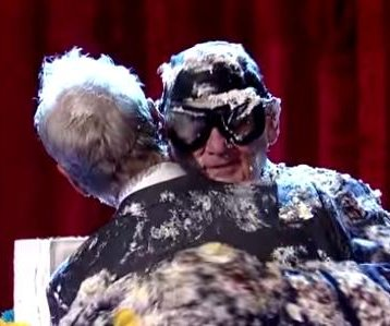 Bill Murray pops out of cake for Letterman goodbye