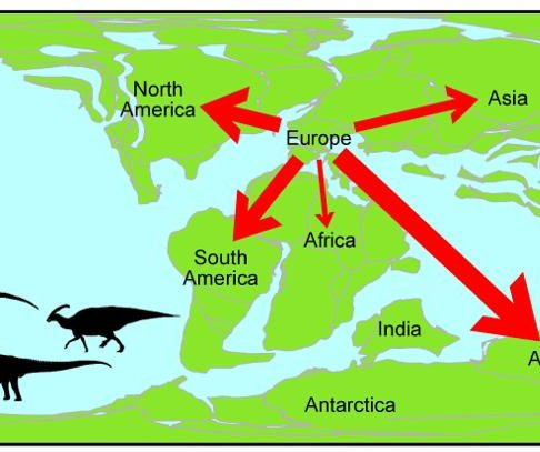 Dinosaur families left Europe during Early Cretaceous