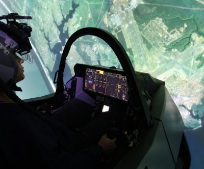 U.S. Air Force pilots use new simulators for F-35 training