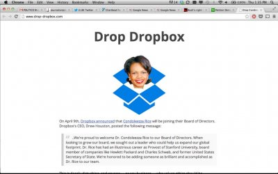 Petition urges users to demand Dropbox drop Condoleeza Rice from its board