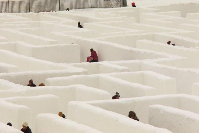 Manitoba snow maze dubbed world's largest