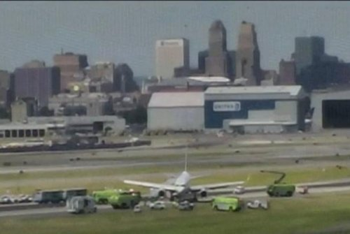 Plane skids off runway at Newark Airport in New Jersey