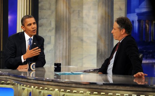 Barack Obama appears on 'Daily Show'
