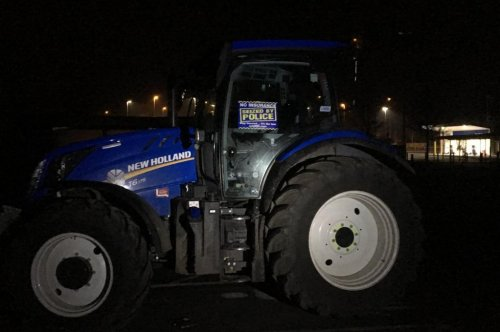 Police seize tractor caught drag racing motorcycles