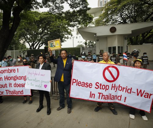 Royalists in Thailand hold protest outside U.S. Embassy