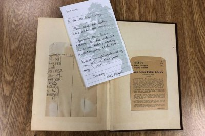 Overdue book returned to Michigan library after about 70 years
